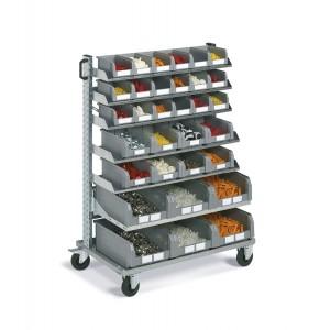 Carrello porta contenitori Smart, 32 contenitori