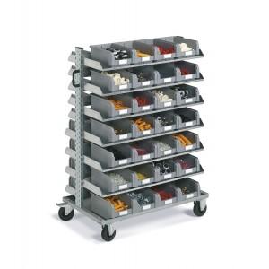 Carrello porta contenitori Smart, 97 contenitori
