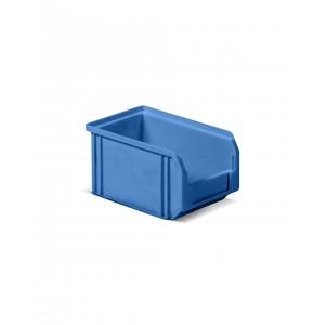 Contenitore a bocca di lupo in PP, capacità 3.8 l, Blu