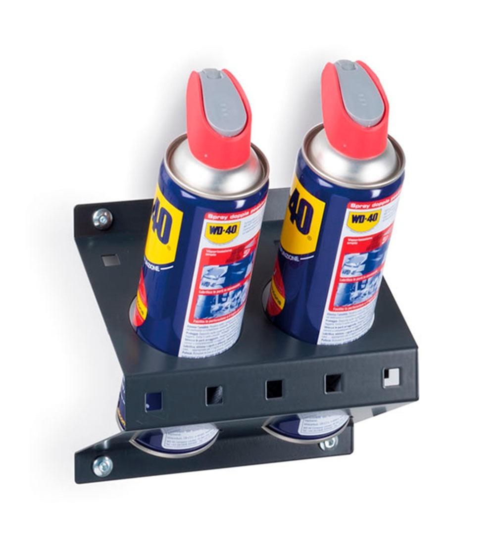 Porta bombolette spray inclinato a 2 posti