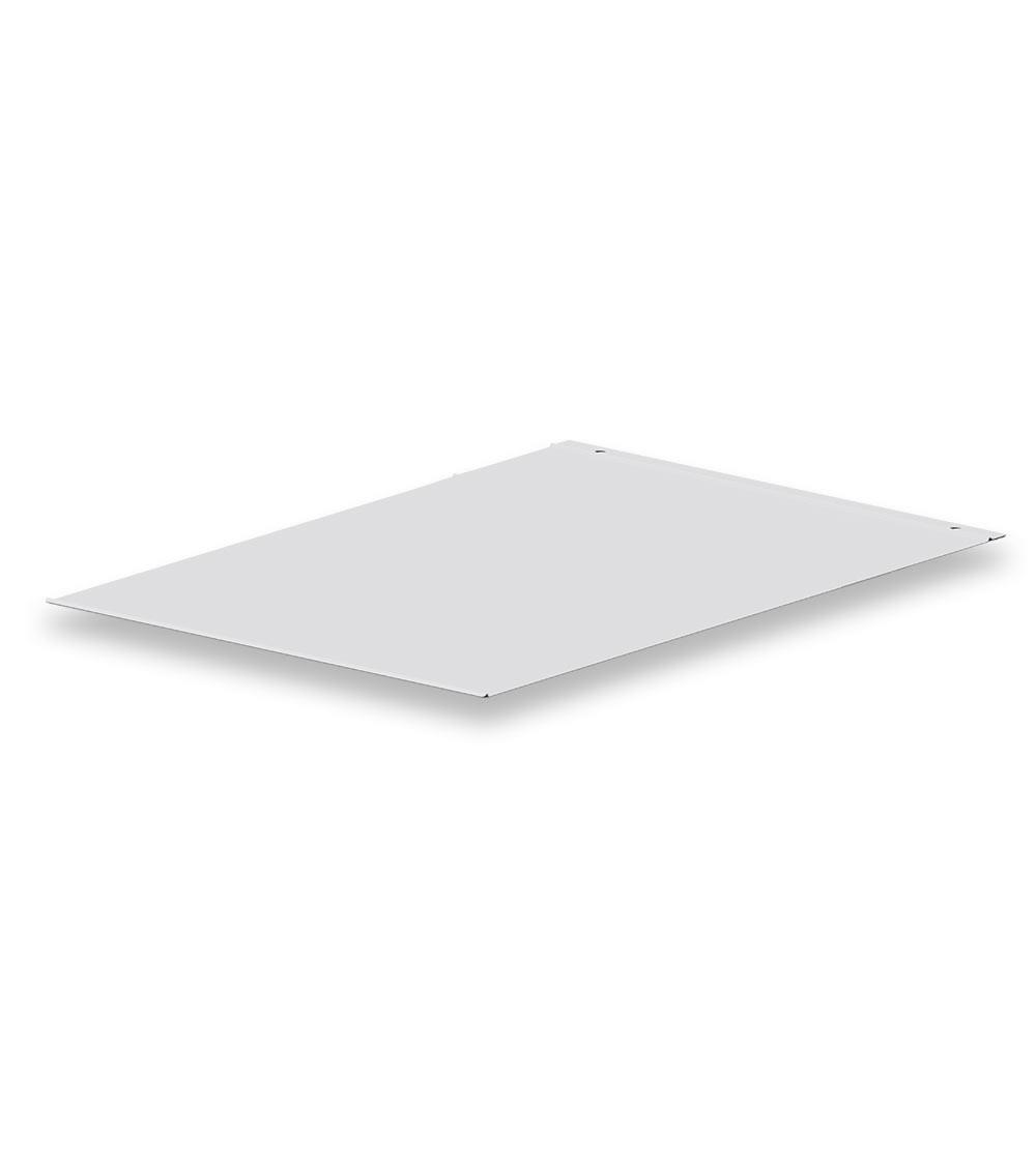 Fondo di chiusura per armadio con larghezza 630 mm, grigio