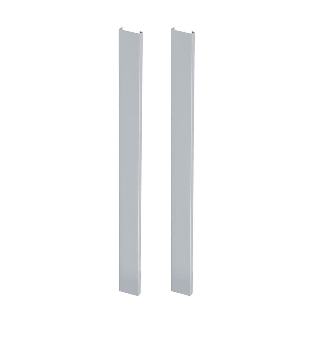 Coppia tamponi laterali per banchi serie Work, grigio
