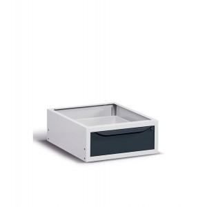 Cassettiera per banco, 1 cassetto, Grigio