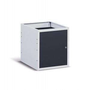 Cassettiera con anta e piano regolabile, 50 cm, Grigio