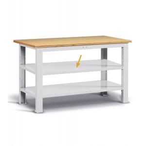 Piano aggiuntivo per banchi Work, 760x600x35 mm, grigio
