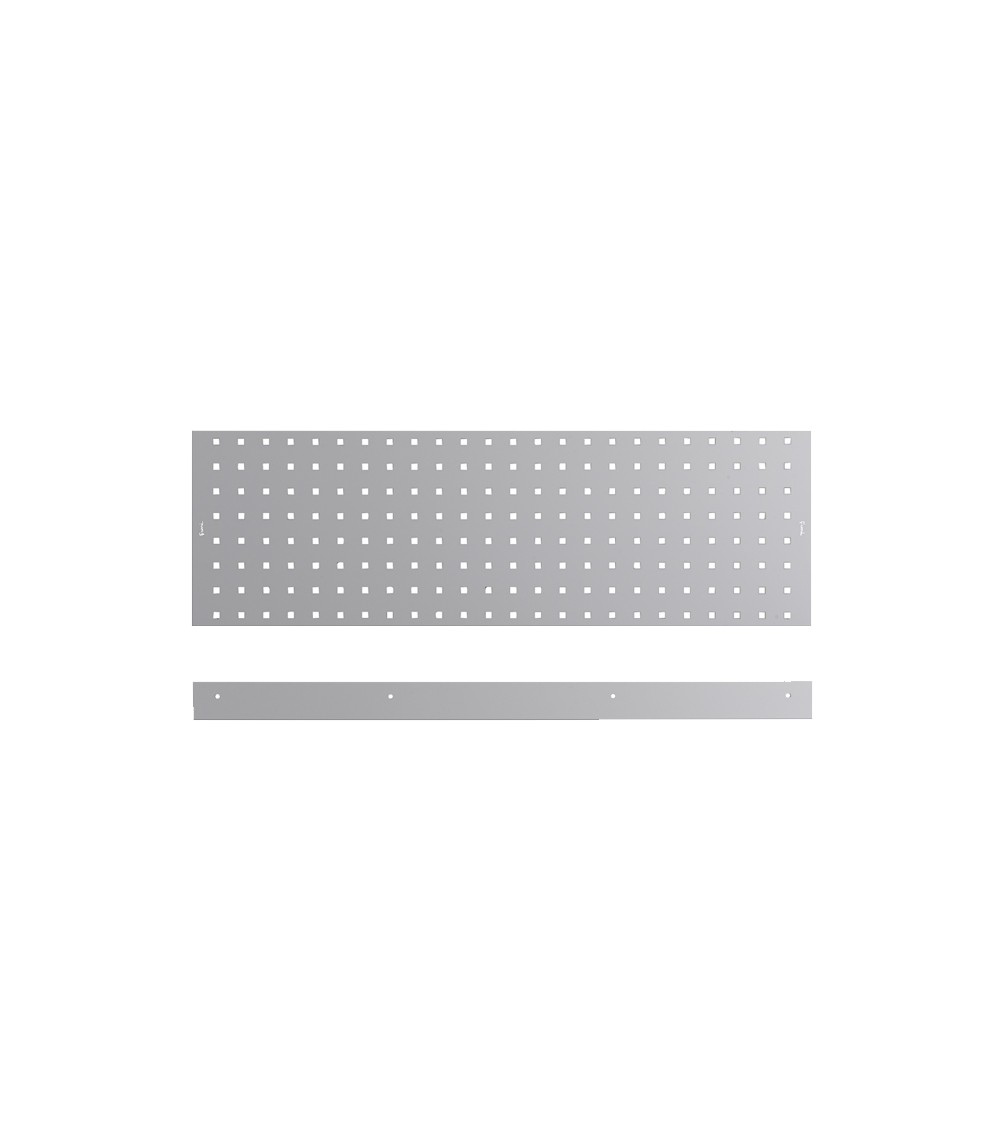 Kit 3 pannelli con due bordi fermacassa da 953 mm, grigio
