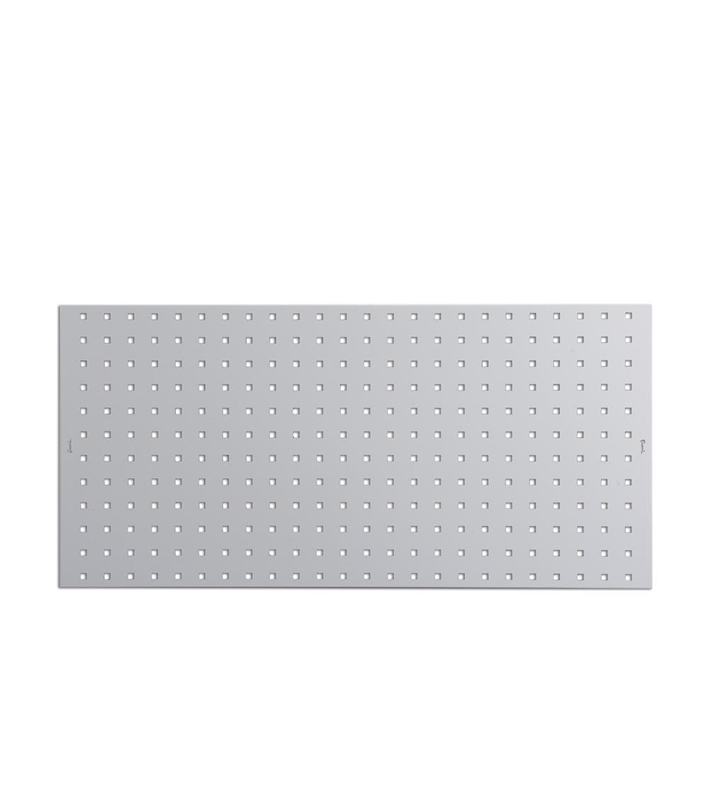 Mensola pannello portautensili, con bordo, colore grigio, mis. 953x456H