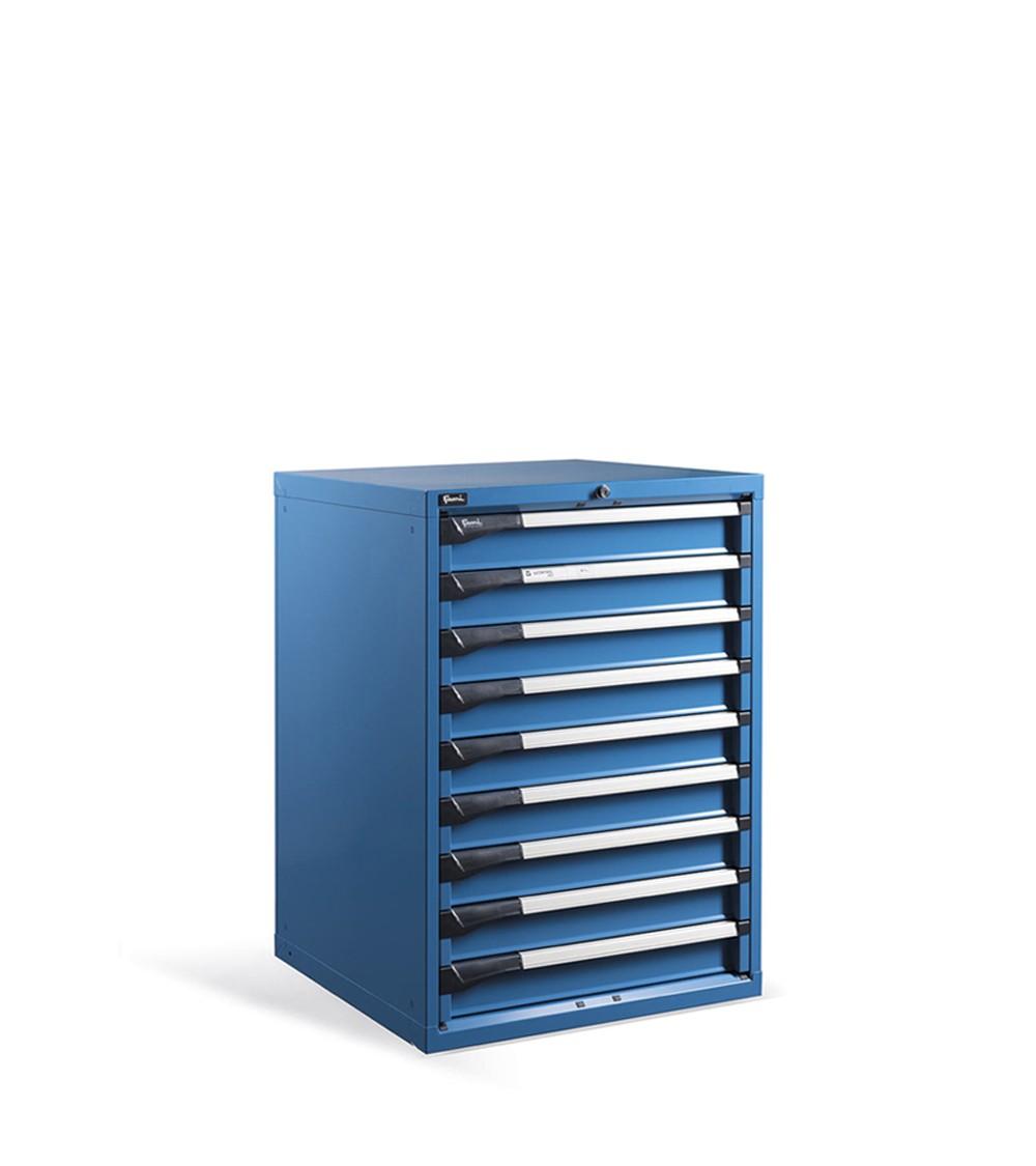 Cassettiera metallica Master, 9 cassetti, Blu