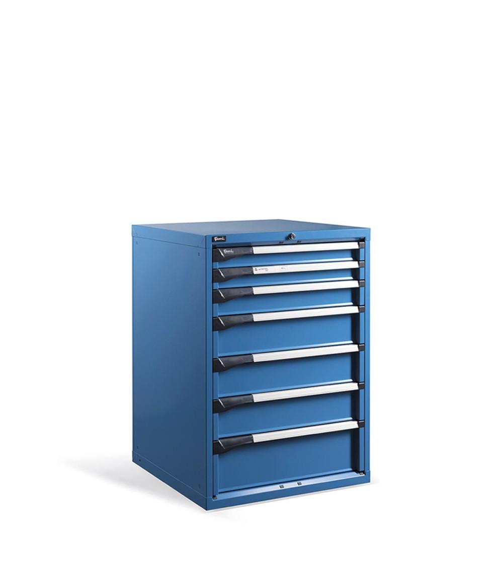 Cassettiera metallica Master, 7 cassetti, Blu