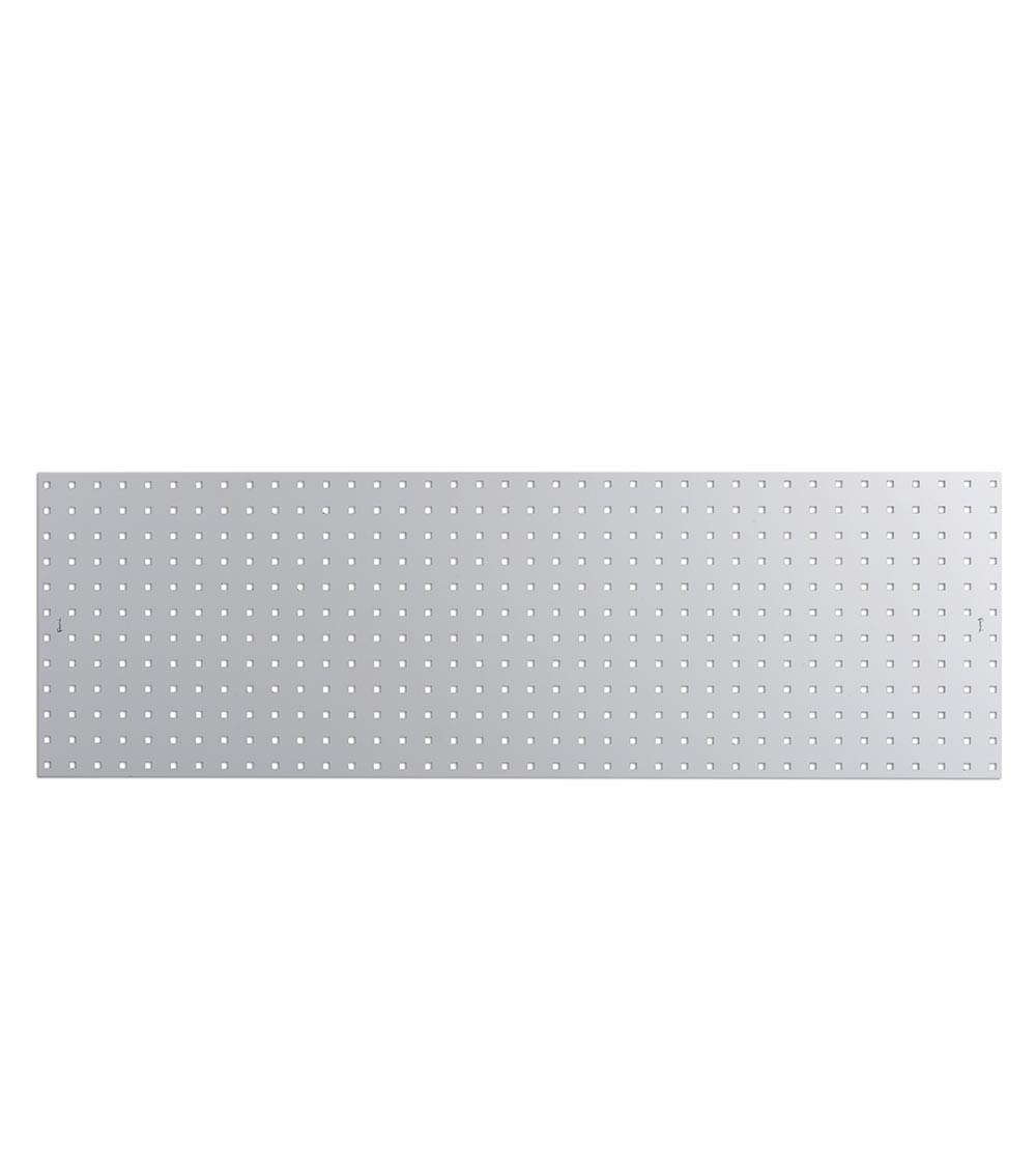 Mensola pannello portautensili, con bordo, colore grigio, mis. 1440x456H