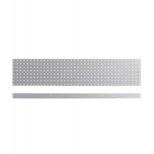 Kit 3 pannelli con due bordi fermacassa da 1438 mm, grigio
