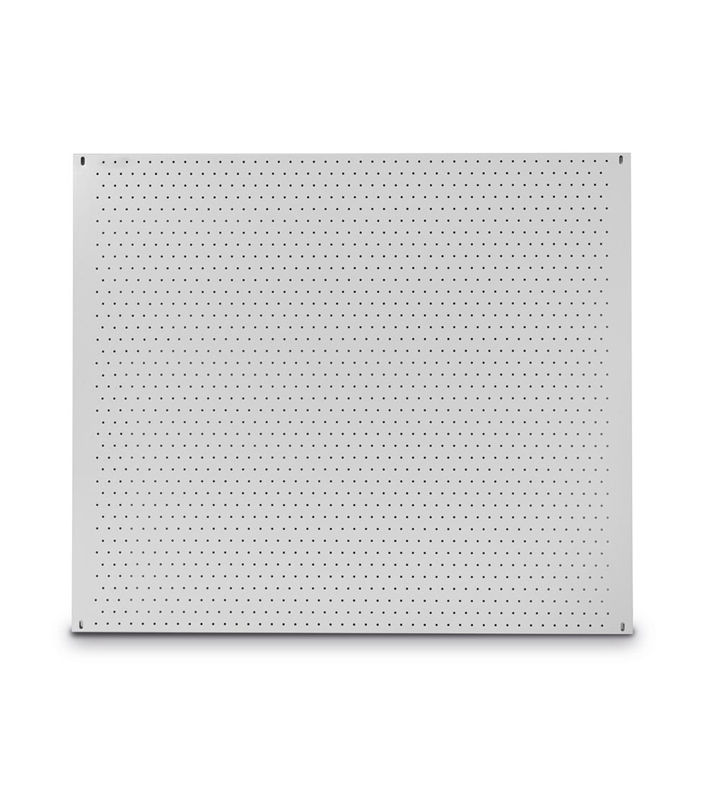 Porta attrezzi da muro con foro tondo, 1500x15x850 mm, grigio