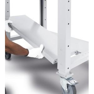 semipiano non fessurato in acciaio per banchi Work 760x300x35h, esempio di applicazione
