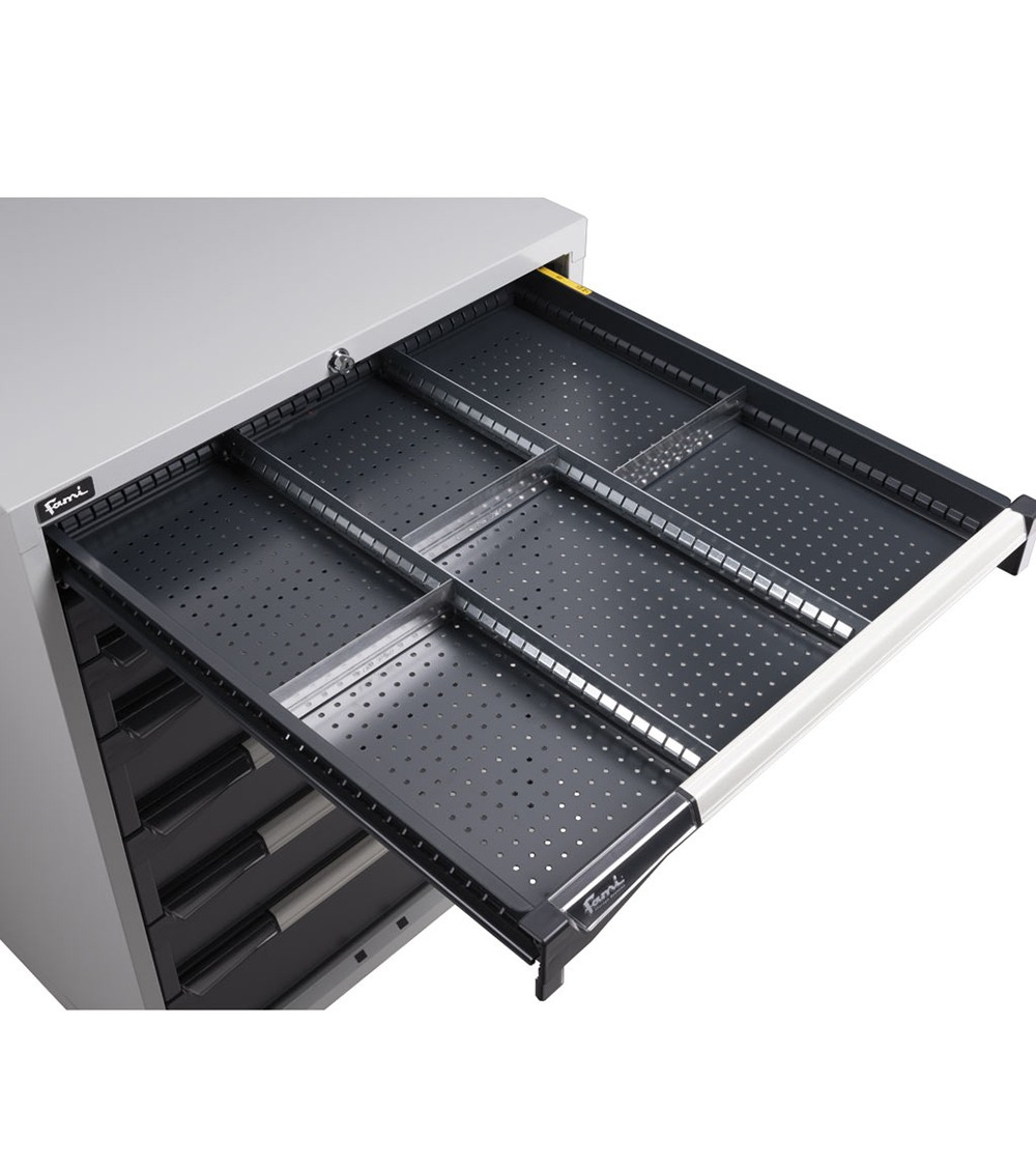 Divisori fessurati per cassetti, 200 mm H