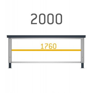 Piano aggiuntivo per banchi Work da 200 cm