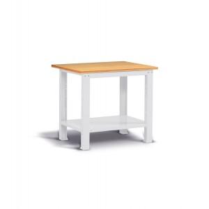 Banco Work con piano in legno, 100cm, Montato, grigio