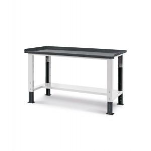 Banco Work Up con piano in acciaio, 150cm, grigio
