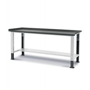 Banco Work Up con piano in acciaio, 200cm, Grigio