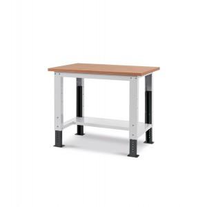 Banco Work Up con piano in legno, 100cm, grigio