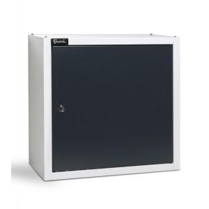 Pensile con porta a battente reversibile, grigio chiaro RAL 7035 e grigio antracite RAL 7016