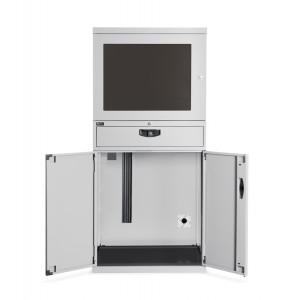 Armadio porta PC serie Standard, colore grigio chiaro RAL 7035