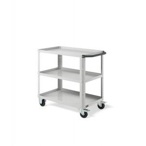 Carrello Clever Small con piano in acciaio aggiuntivo CLEVER0905, colore grigio RAL 7035