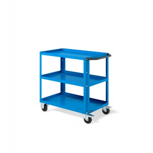 Carrello Clever Small con piano in acciaio aggiuntivo CLEVER0906, colore blu RAL 5012