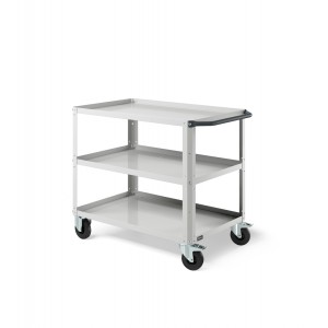 Carrello Clever Large con piano in acciaio aggiuntivo CLEVER1005, colore grigio RAL 7035