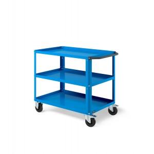 Carrello Clever Large con piano in acciaio aggiuntivo CLEVER1006, colore blu RAL 5012