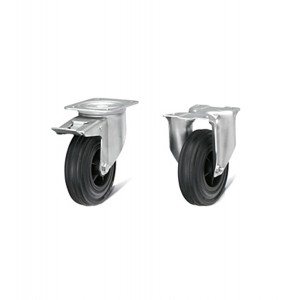 Kit ruote in gomma standard diametro 125 mm