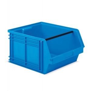 Contenitore a bocca di lupo in PP, capacità 63 l, colore blu