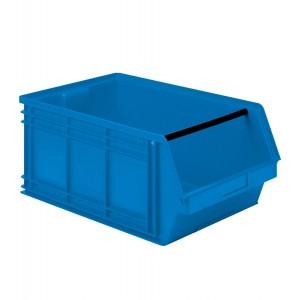 Contenitore a bocca di lupo in PP, capacità 88 l, colore blu