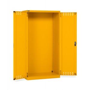 Armadio con ante a battente fessurate 54x27 EH, colore giallo RAL 1004