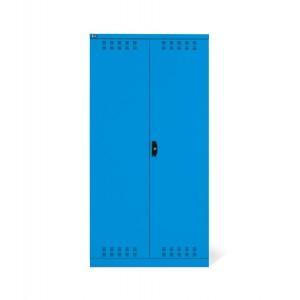 Armadio con ante a battente fessurate 54x27 EH, colore blu RAL 5012