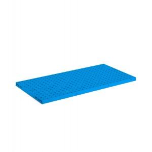 Kit 1 piano-pannello forato, colore blu RAL 5012