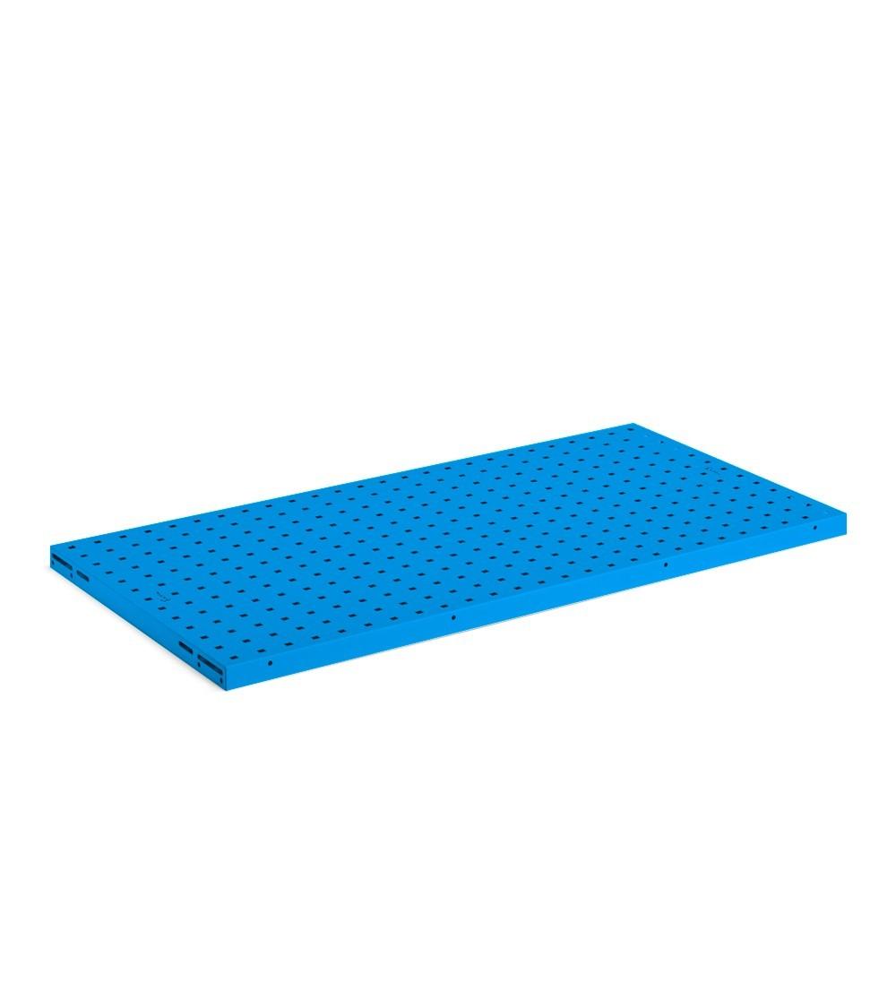 Kit 2 piani-pannelli forati, colore blu RAL 5012