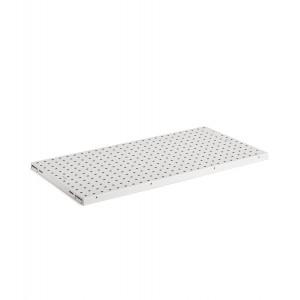 Kit 2 piani-pannelli forati, colore grigio chiaro RAL 7035
