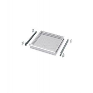 Cassetti ad estrazione semplice 24x27 EH, colore grigio RAL 7035