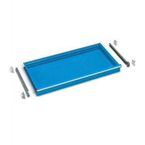 Cassetti ad estrazione semplice 54x27 EH, colore blu RAL 5012