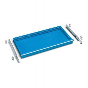 Cassetti ad estrazione telescopica 54x27 EH, colore blu RAL 5012
