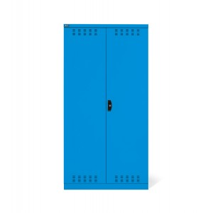 Armadio con ante a battente fessurate 54x27 EH, PERFOM14021, colore blu