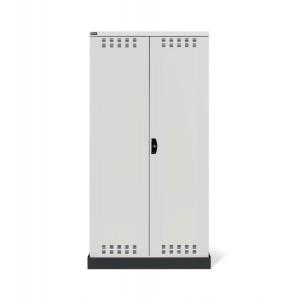 Armadio con ante a battente fessurate 54x27 EH, PERFOM14023, colore grigio chiaro