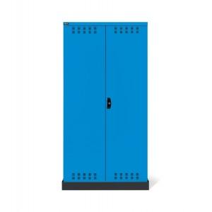 Armadio con ante a battente fessurate 54x27 EH, PERFOM14024,  colore blu