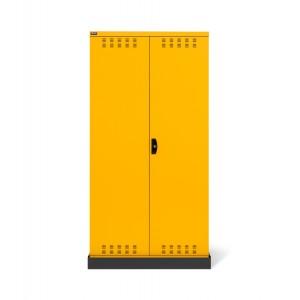 Armadio con ante a battente fessurate 54x27 EH, PERFOM14025, colore giallo