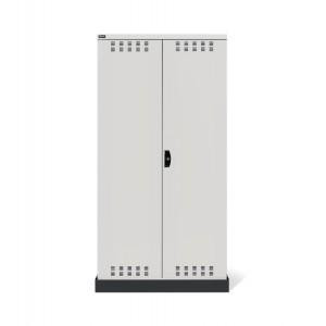 Armadio con ante a battente fessurate 54x27 EH, PERFOM14027, colore grigio