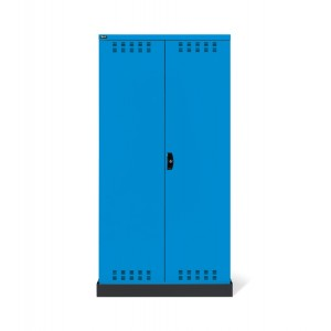 Armadio con ante a battente fessurate 54x27 EH, PERFOM14028, colore blu