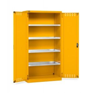 Armadio con ante a battente fessurate 54x27 EH, PERFOM14029, colore giallo