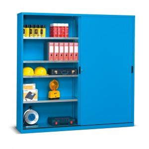 Armadio con porte scorrevoli serie Perfom, colore blu RAL 5012