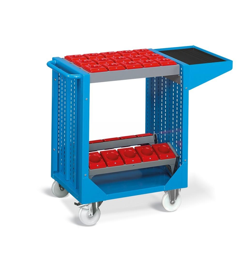 Carrello serie Combi NC, COMBINC05, colore blu RAL 5012