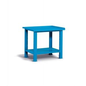 Banco da lavoro Work con piano in acciaio, 100cm, Blu